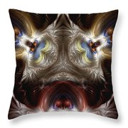 Exogenic Symmetry 1 Throw Pillow