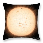 Exoplanet Hd 219134b In Front Of Star Throw Pillow