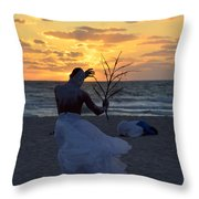Exorcism Facing The Sea Throw Pillow