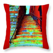 Exorcist Steps Throw Pillow