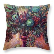 Exotic Bouquet Throw Pillow