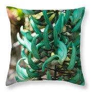 Exotic Jade Vine Throw Pillow