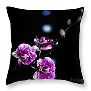 Exotic Orchid 6 V2 Throw Pillow