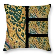 Exotic Repetitions Throw Pillow