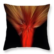 Exotic Wheat In Red Throw Pillow