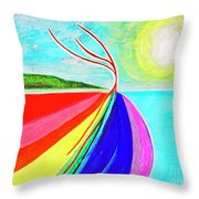 Expansive Flowing Colors In Nature Throw Pillow