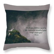 Expansive Stretch Of Your Wings Throw Pillow