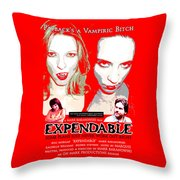 Expendable Poster Throw Pillow