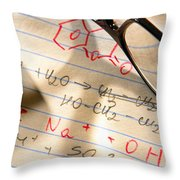 Experiment Notes In Applied Science Research Lab Throw Pillow