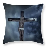 Experimental Crucifix In The Light Throw Pillow