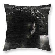 Experimental Portrait Of A Female Jesus Throw Pillow