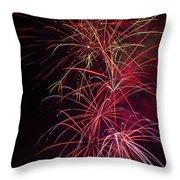 Exploding Festive Fireworks Throw Pillow