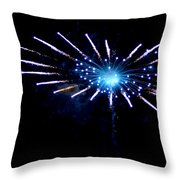 Exploding Flower Throw Pillow