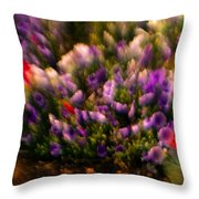 Exploding Flowers 1 Throw Pillow
