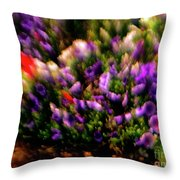 Exploding Flowers 2 Throw Pillow