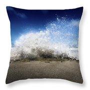 Exploding Seas Throw Pillow