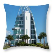Exploration Tower Florida Throw Pillow