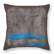 Explorer Gray Throw Pillow