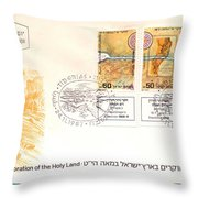 explorers First day cover Throw Pillow