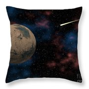 Exploring Planet Mars Throw Pillow