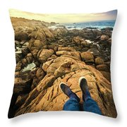 Exploring The Beaches Of Western Tasmania Throw Pillow