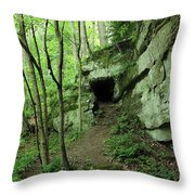 Exploring The Gorge Throw Pillow