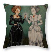 Exploring The Looking Glass Throw Pillow