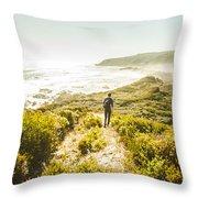 Exploring The West Coast Of Tasmania Throw Pillow