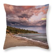 Explosion Of Colored Clouds Throw Pillow