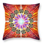 Explosion Of Emotions Throw Pillow