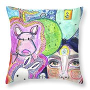 Expnce Throw Pillow