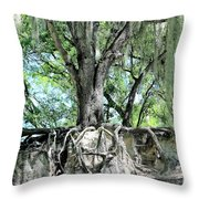 Exposed - Oak Roots Throw Pillow