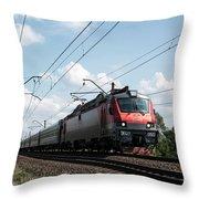 Express Train Throw Pillow