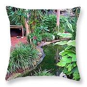 Expressionalism Beautiful Garden  Throw Pillow