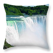 Expressionalism Niagara Falls 12 Throw Pillow
