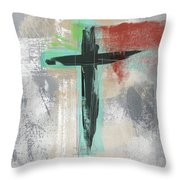 Expressionist Cross 3- Art By Linda Woods Throw Pillow