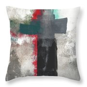 Expressionist Cross 4- Art By Linda Woods Throw Pillow
