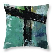 Expressionist Cross 8- Art By Linda Woods Throw Pillow