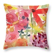 Expressionist Fall Garden- Art By Linda Woods Throw Pillow