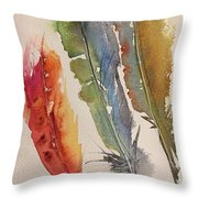 Feather Expressions Throw Pillow