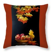 Expression Of Yellow Leaves. Throw Pillow