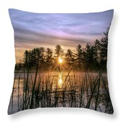 Exquisite Sunrise On The Androscoggin River 2 Throw Pillow