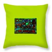 Extended Play Graffiti Radio/tonyadamo Throw Pillow