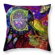 Extraterrestrial Fish In The Sea Throw Pillow by Joseph Mosley