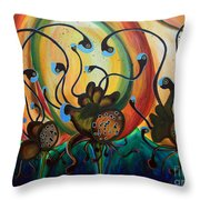 Extraterrestrial Flora Throw Pillow