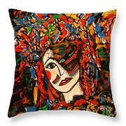 Extravagant Beauty Throw Pillow