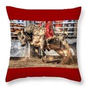 Extreme Bulls Throw Pillow