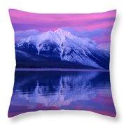 Extreme Sunset On Lake Mcdonald Throw Pillow