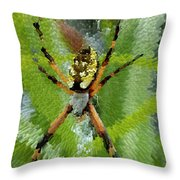 Extruded Spider Throw Pillow