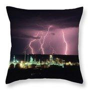 Exxon Lightning Throw Pillow